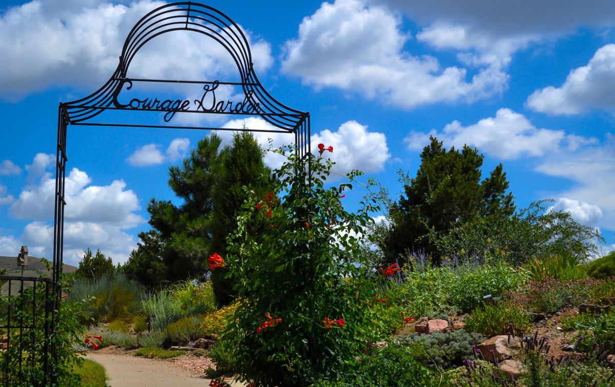 Beautiful scenery at the Jefferson County Courage Garden